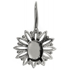 Filigree Earring Setting 25mm Flower Antique Silver